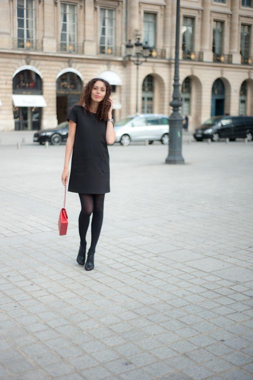 Quelle couleur collant avec robe noire