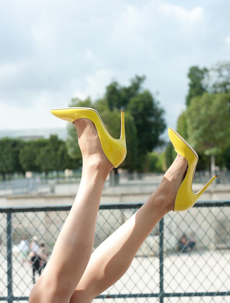 escarpins jaunes-2