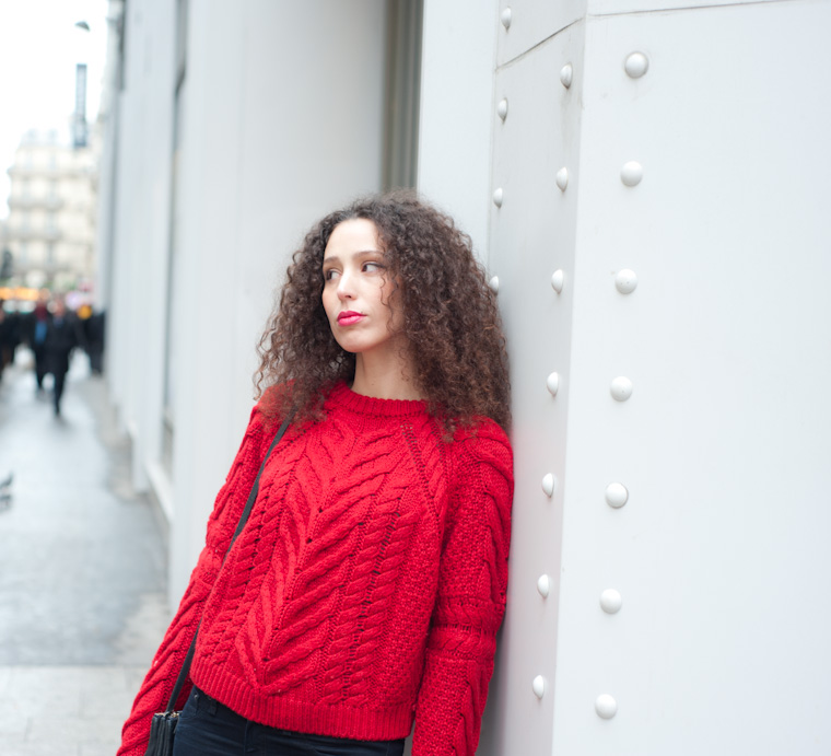 le pull rouge