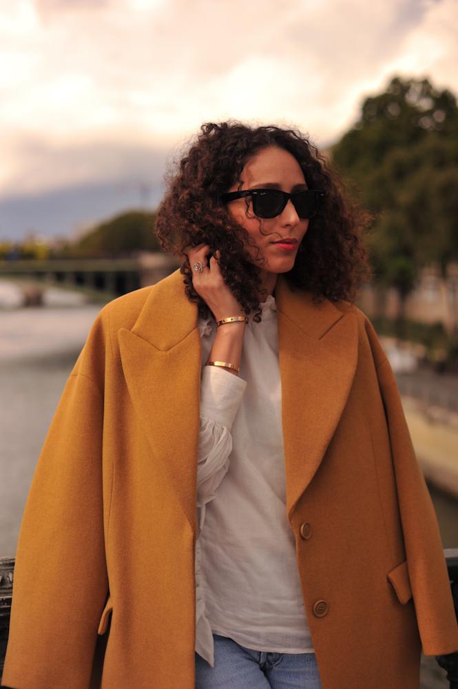 Wool Blend Oversized Coat